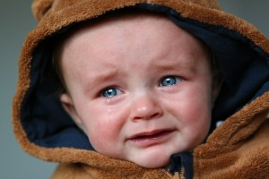 My kids don't look this cute when they cry.